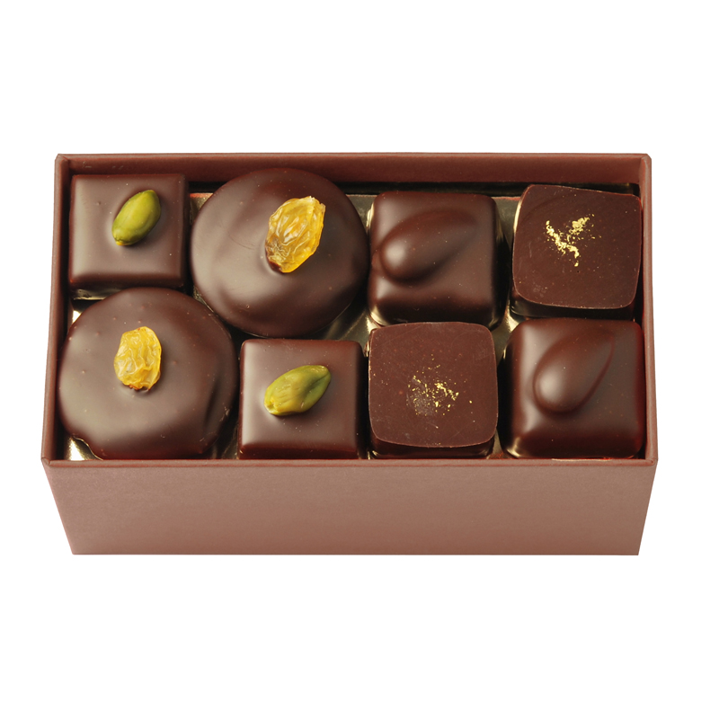 Coffret de chocolats tout noir – 250 g