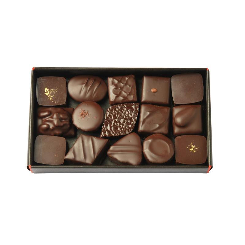 Coffret découverte 15 chocolats tout noir – 140 g