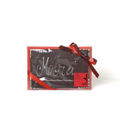 Plaque message « Merci » au chocolat noir – 120 g
