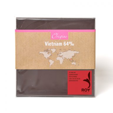 Tablette de chocolat noir 64% pure origine Vietnam