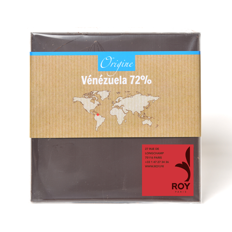 Tablette de chocolat noir 72% pure origine Venezuela