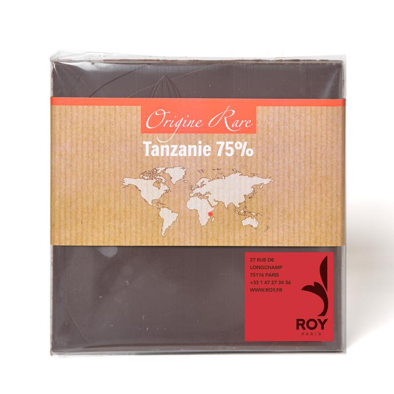 Tablette de chocolat noir 75% pure origine Tanzanie
