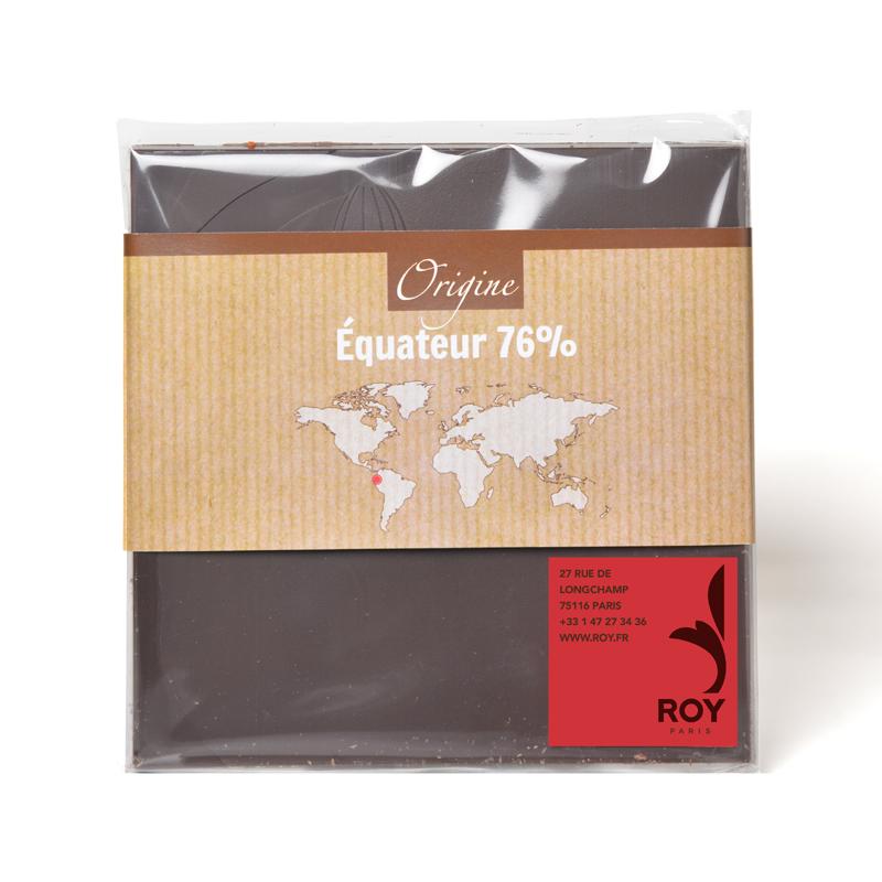 Tablette de chocolat noir 76% pure origine Équateur