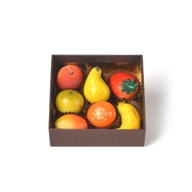 Pâte d'amande modelages fruits – coffret de 7 pièces