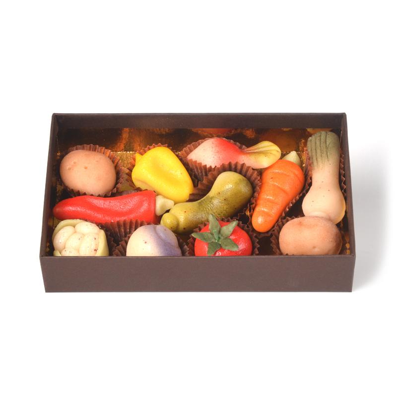 Pâte d'amande modelages légumes – coffret de 11 pièces
