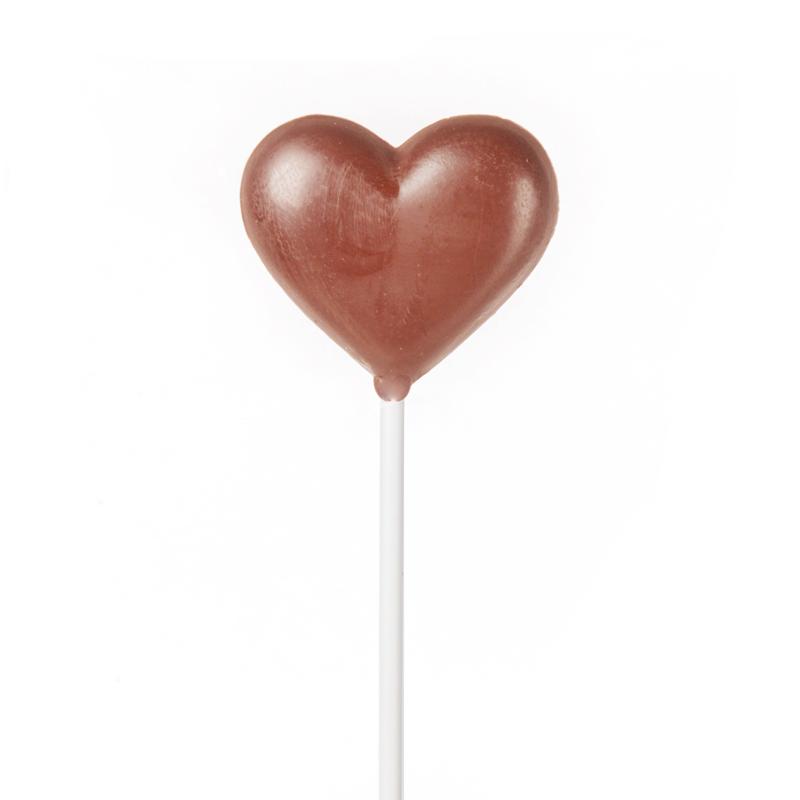 """Sucette """"coeur"""" en chocolat au lait"""