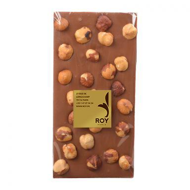 tablette de chocolat au lait sans sucre et noisettes