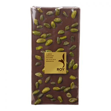 tablette de chocolat noir sans sucre et pistaches iran