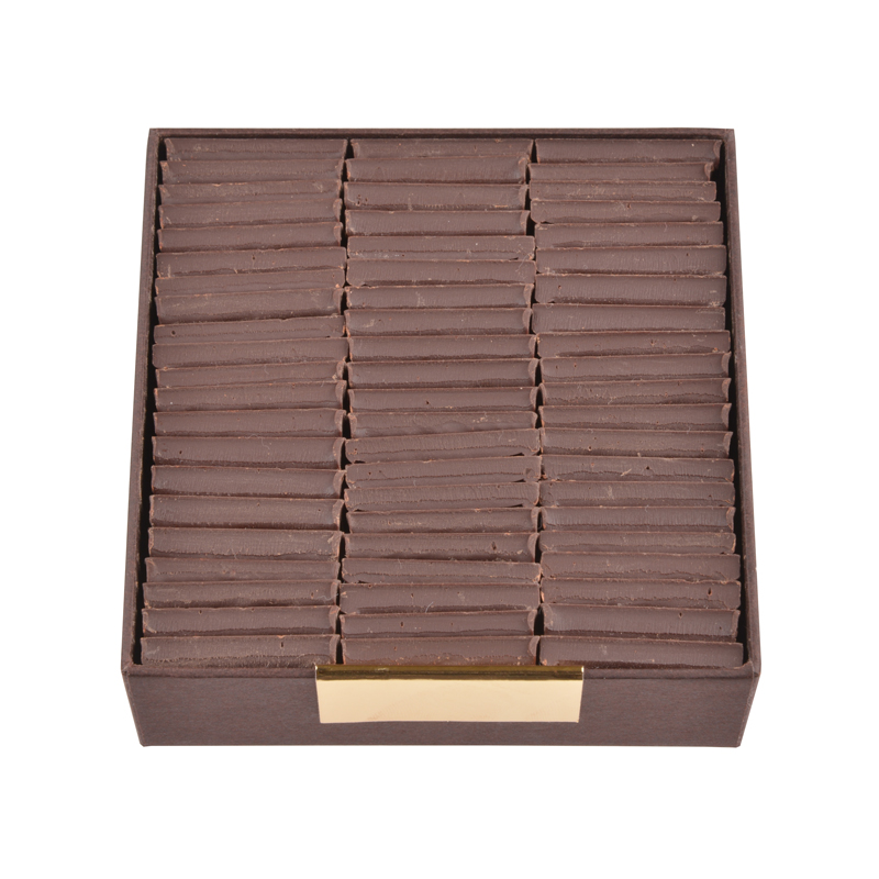 Carrés de chocolat dégustation sans sucre tout noir - boîte de 200 g