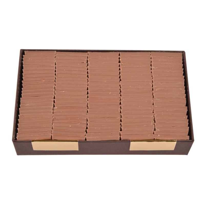 Carrés de chocolat dégustation sans sucre tout lait - boîte de 340 g