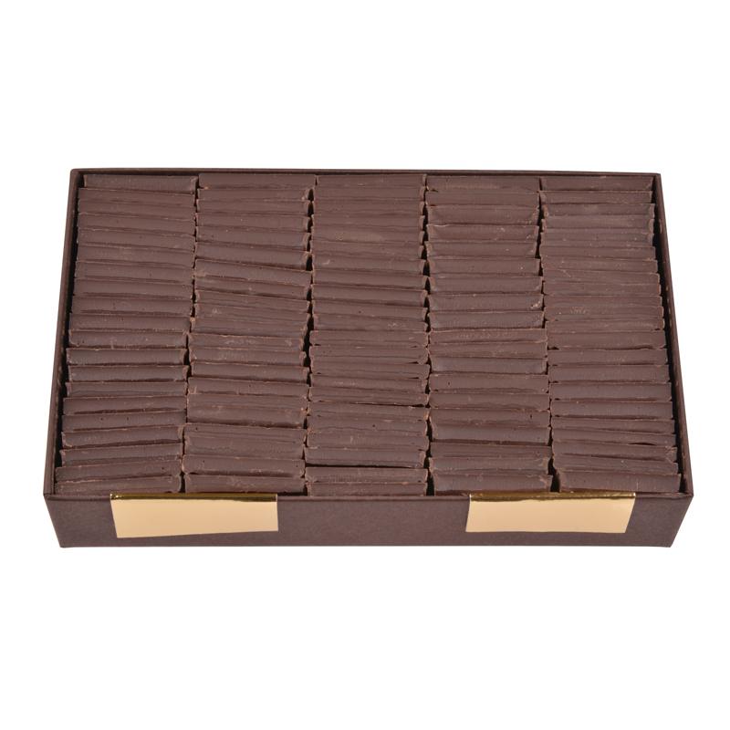 Carrés de chocolat dégustation sans sucre tout noir - boîte de 340 g