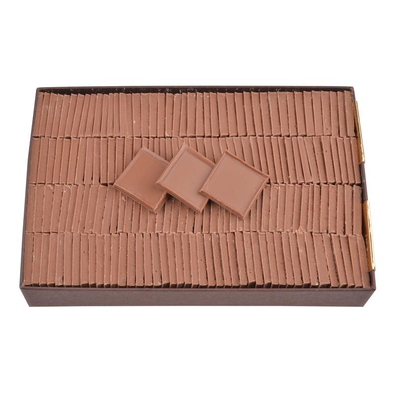Carrés de chocolat dégustation sans sucre tout lait - boîte de 550 g