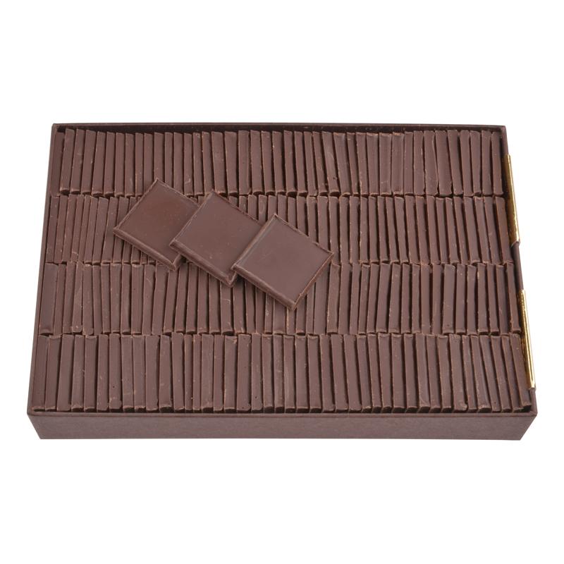 Carrés de chocolat dégustation sans sucre tout noir - boîte de 550 g