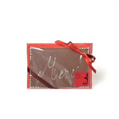 Plaque message « Merci » au chocolat au lait – 120 g