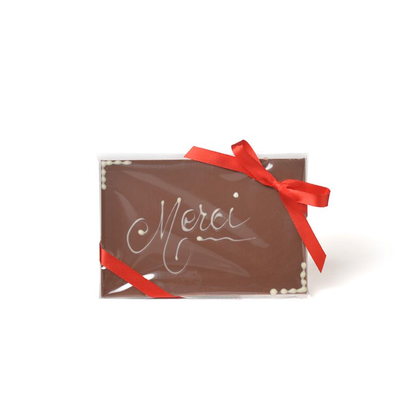 Plaque message « Merci » au chocolat au lait – 50 g