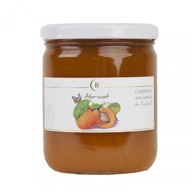 Confiture d'abricot sans sucre ajouté fabriquée en Bretagne