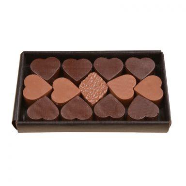 Coffret cadeau Saint-Valentin chocolat noir et chocolat lait 140g ROY chocolatier Paris16