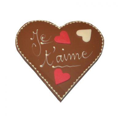 Cœur Je t'aime Saint-Valentin chocolat au lait ROY chocolatier Paris 16 800px