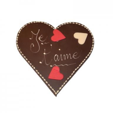 Cœur Je t'aime Saint-Valentin chocolat noir ROY chocolatier Paris 16